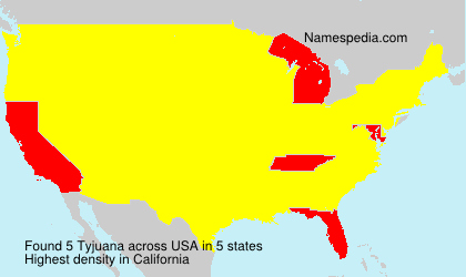 Surname Tyjuana in USA