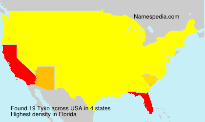 Surname Tyko in USA