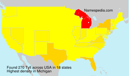 Surname Tyll in USA
