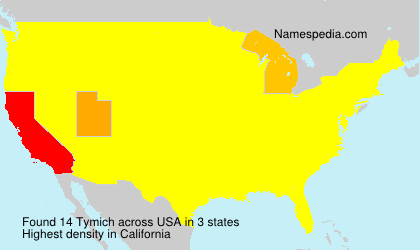 Surname Tymich in USA