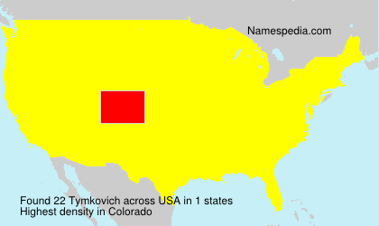 Surname Tymkovich in USA