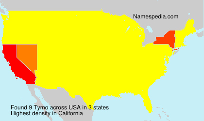 Surname Tymo in USA