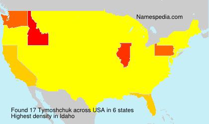 Surname Tymoshchuk in USA