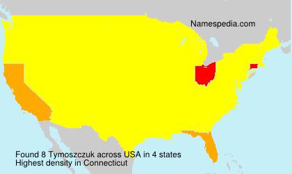 Familiennamen Tymoszczuk - USA