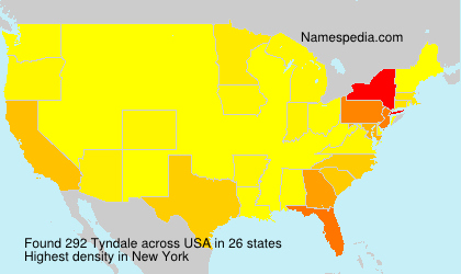 Surname Tyndale in USA