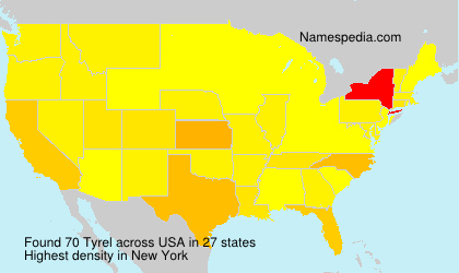 Surname Tyrel in USA
