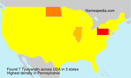 Surname Tyulyandin in USA