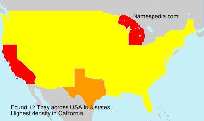 Familiennamen Tzay - USA