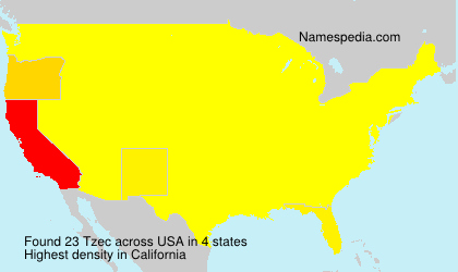Surname Tzec in USA