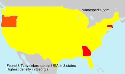 Surname Tzevelekos in USA