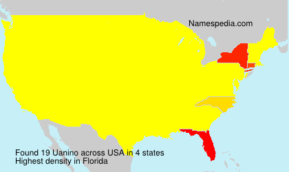 Surname Uanino in USA