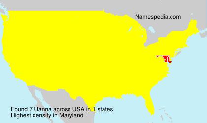 Familiennamen Uanna - USA