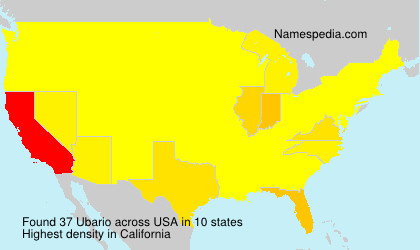 Surname Ubario in USA
