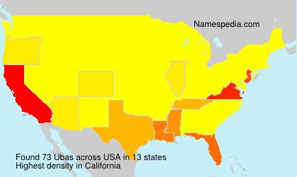 Familiennamen Ubas - USA