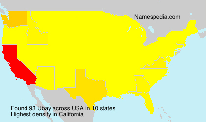 Surname Ubay in USA