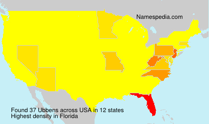 Surname Ubbens in USA