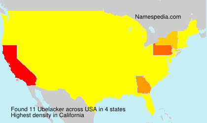 Surname Ubelacker in USA