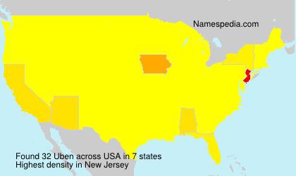 Surname Uben in USA
