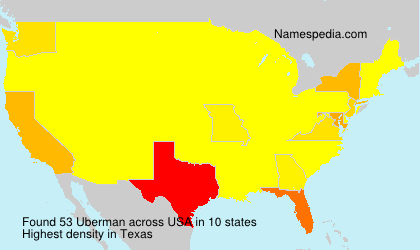 Surname Uberman in USA