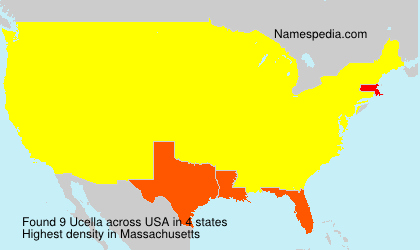 Surname Ucella in USA