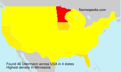 Surname Udermann in USA