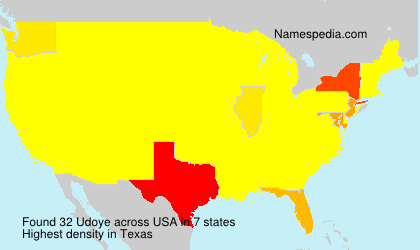 Surname Udoye in USA