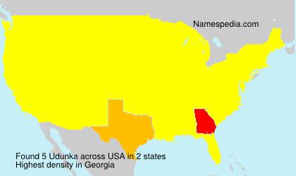 Surname Udunka in USA