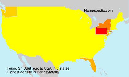 Surname Udut in USA