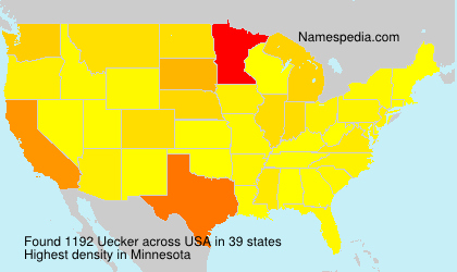 Surname Uecker in USA
