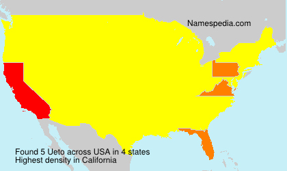 Surname Ueto in USA