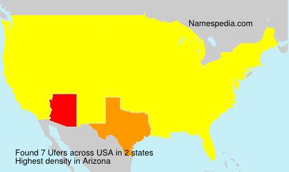 Familiennamen Ufers - USA