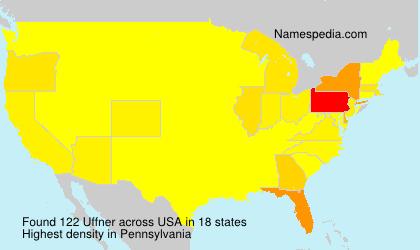 Familiennamen Uffner - USA