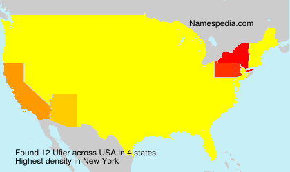 Surname Ufier in USA
