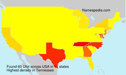 Familiennamen Ufot - USA