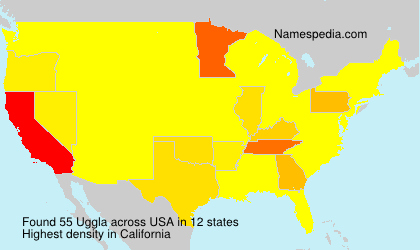Familiennamen Uggla - USA