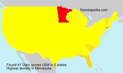 Surname Ugro in USA