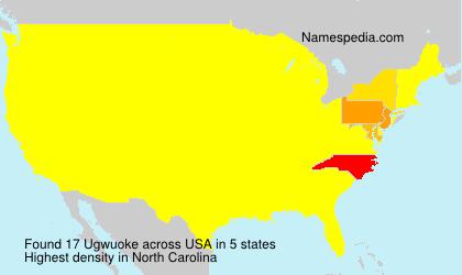 Familiennamen Ugwuoke - USA