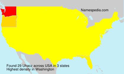 Familiennamen Uhacz - USA