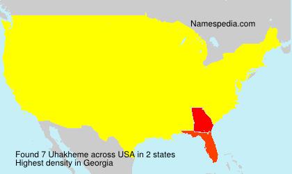 Surname Uhakheme in USA
