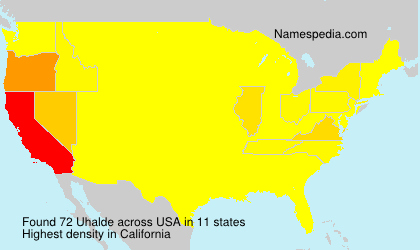 Surname Uhalde in USA