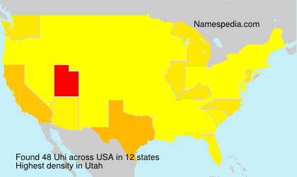 Surname Uhi in USA