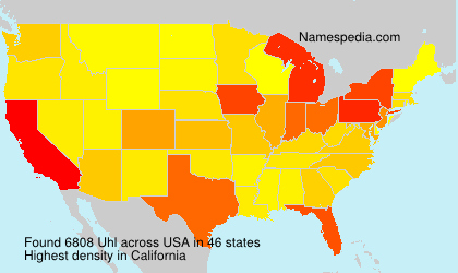 Surname Uhl in USA
