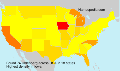 Surname Uhlenberg in USA