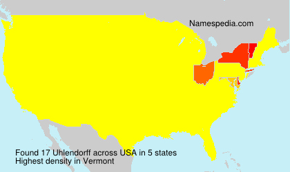 Surname Uhlendorff in USA