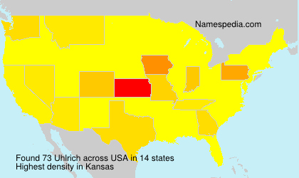 Surname Uhlrich in USA