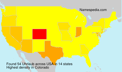 Surname Uhrlaub in USA