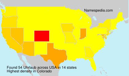 Surname Uhrlaub in USA