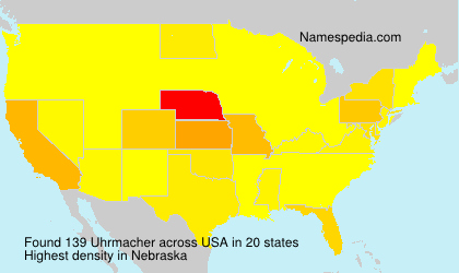 Surname Uhrmacher in USA