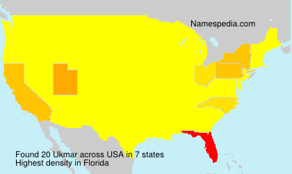 Surname Ukmar in USA