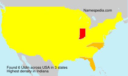 Familiennamen Uldin - USA